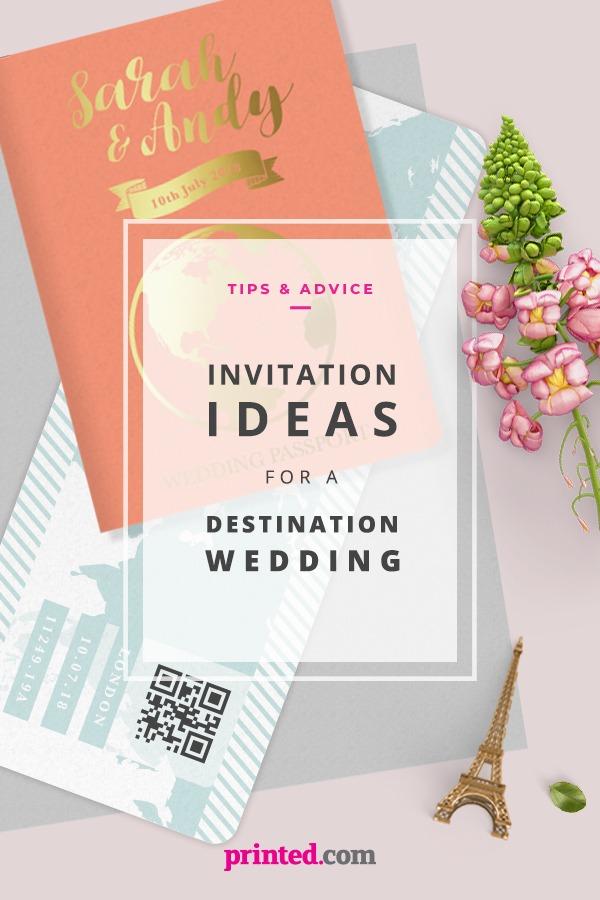 Invitation ideas for a destination wedding