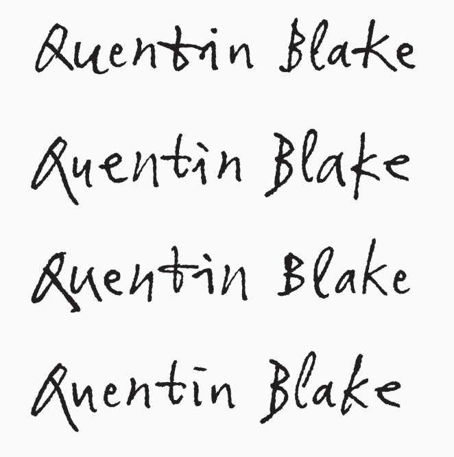 Font of the month: Sir Quentin Blake – Printed com Blog