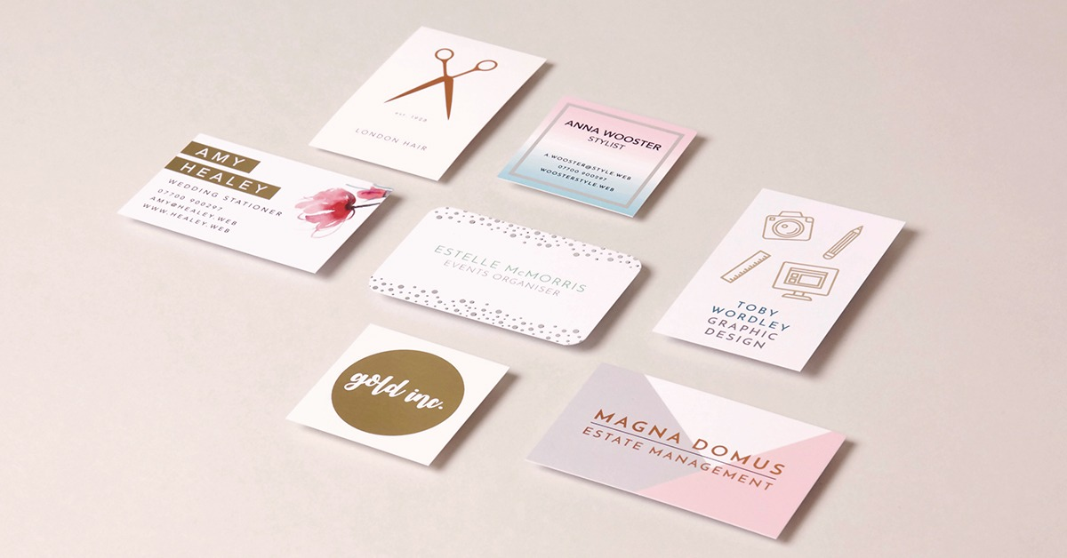 Set the gold standard with foiled business cards