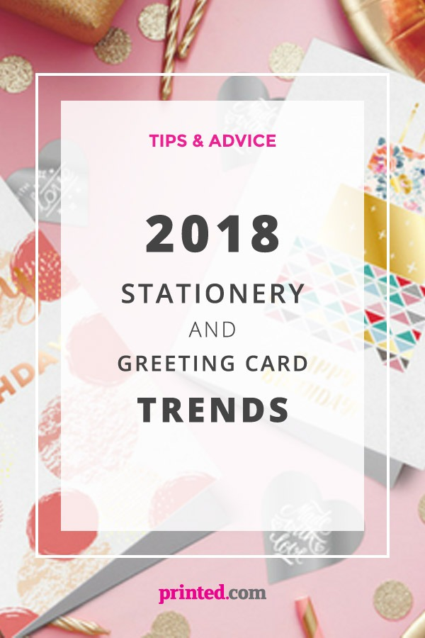2018 Stationery and Greeting Card trends