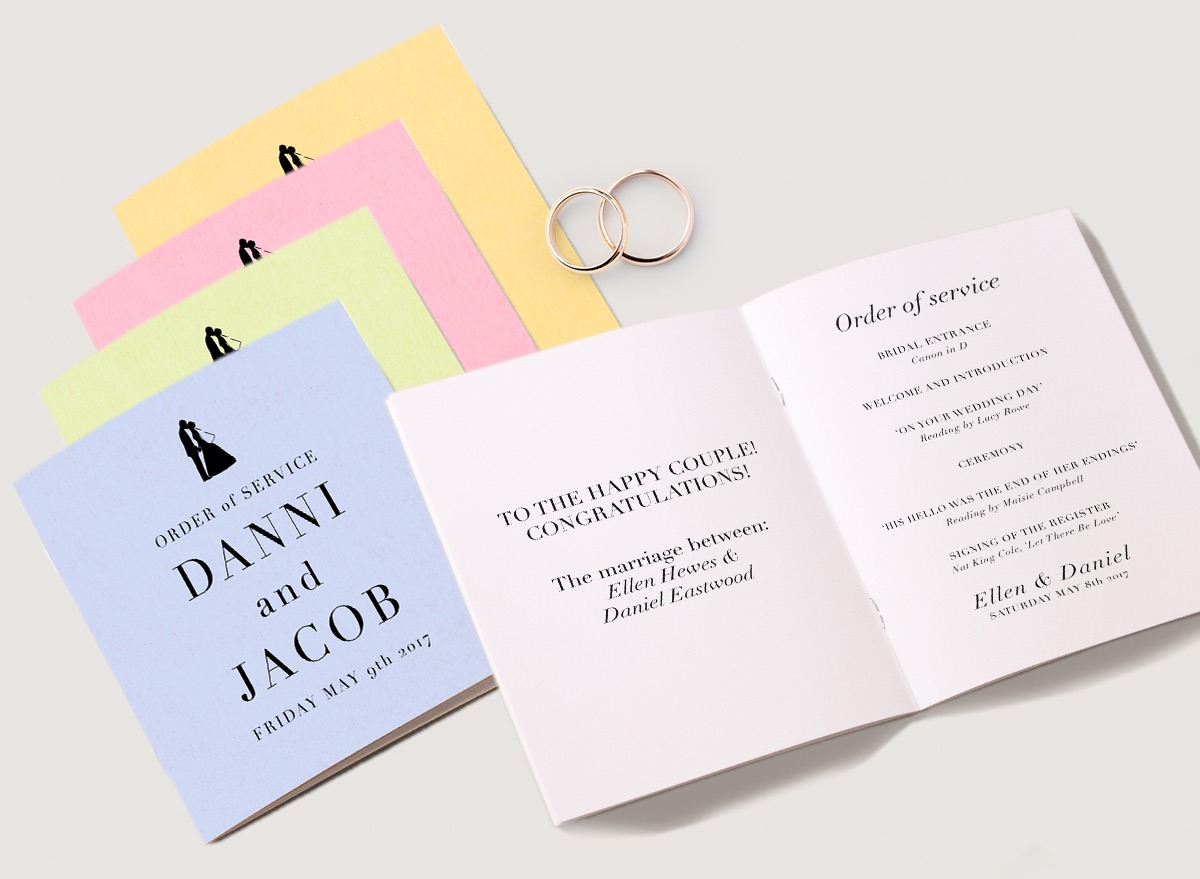 Pastel Paper stocks, Ideal for weddings