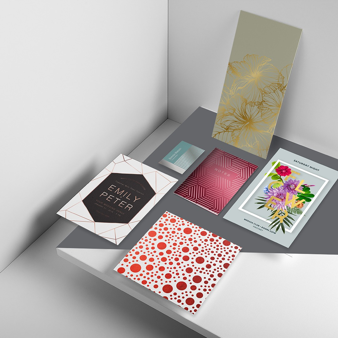 Foiled brochure covers