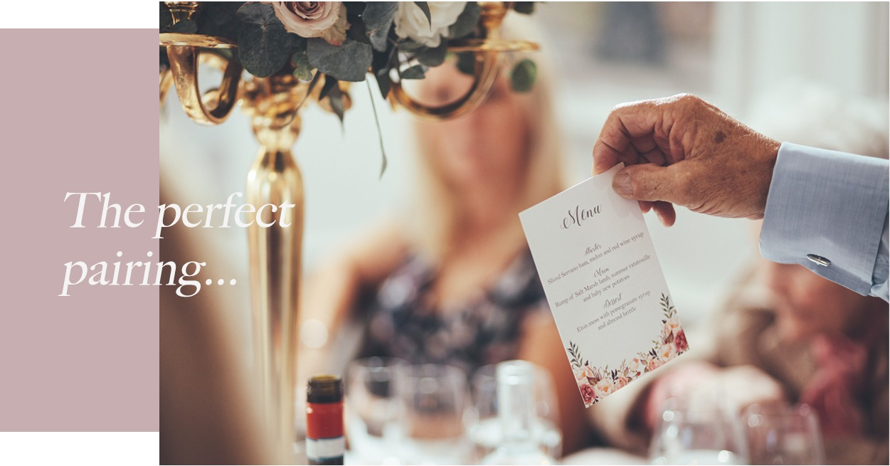 Buy wedding menus in your choice of finishes at printed.com