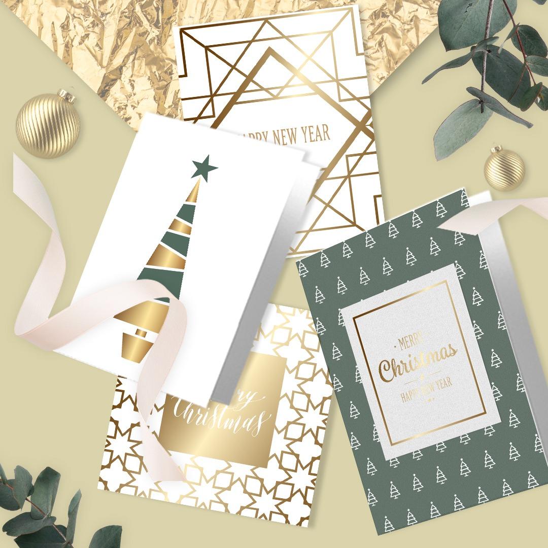 Christmas print - Christmas card foil printing