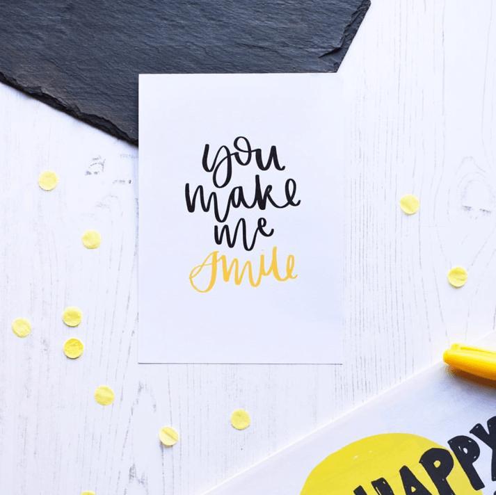AV Typography card