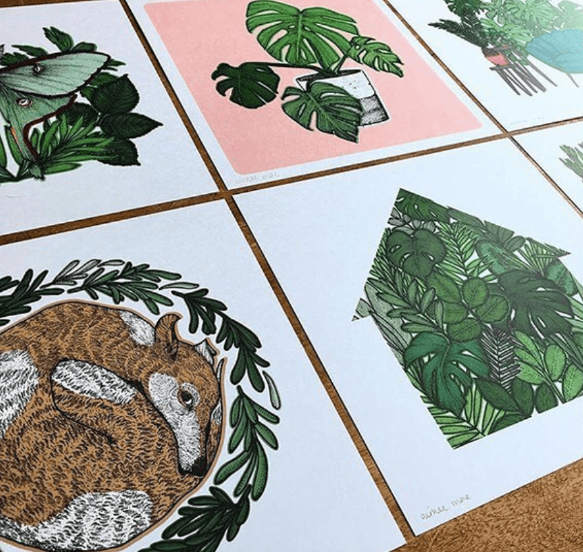 Recycled Paper Prints