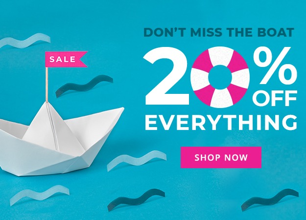 20% off everything at Printed.com