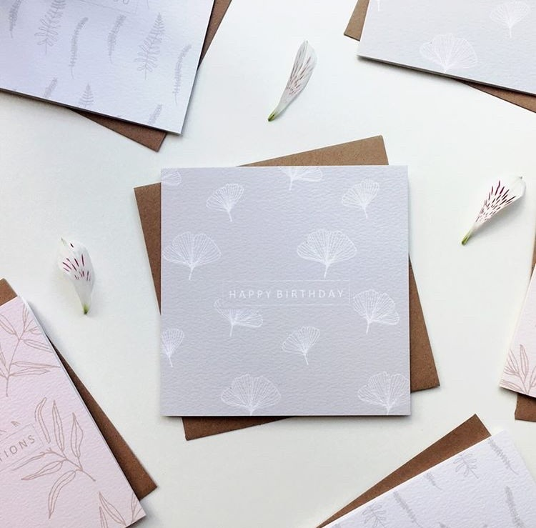 Textured paper print greeting cards