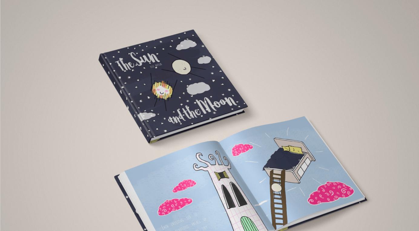 Hardback illustrated childrens book by ALittelMoonBeam - art print