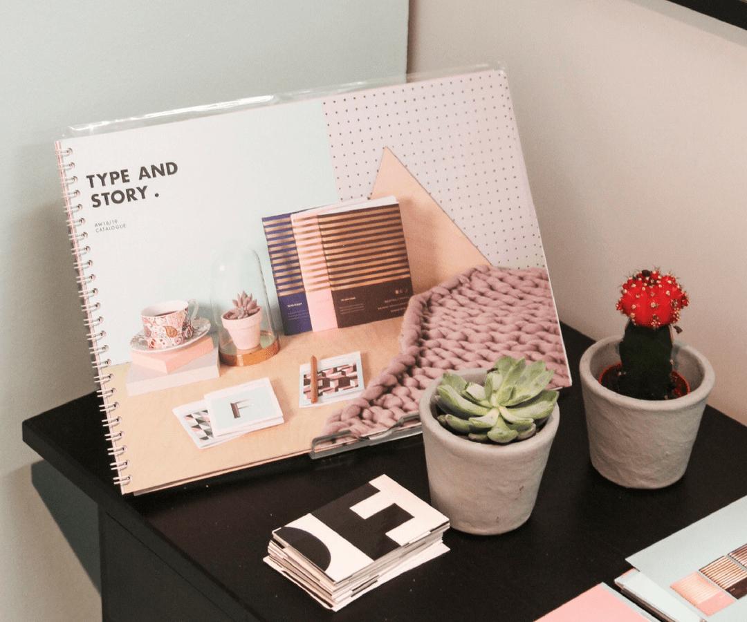 Type and story wiro bound lookbook