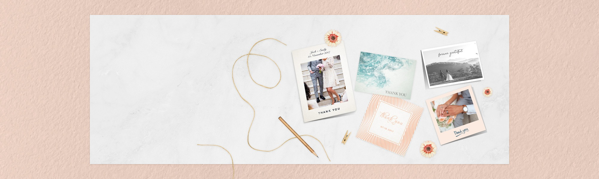 wedding thankyou photo cards