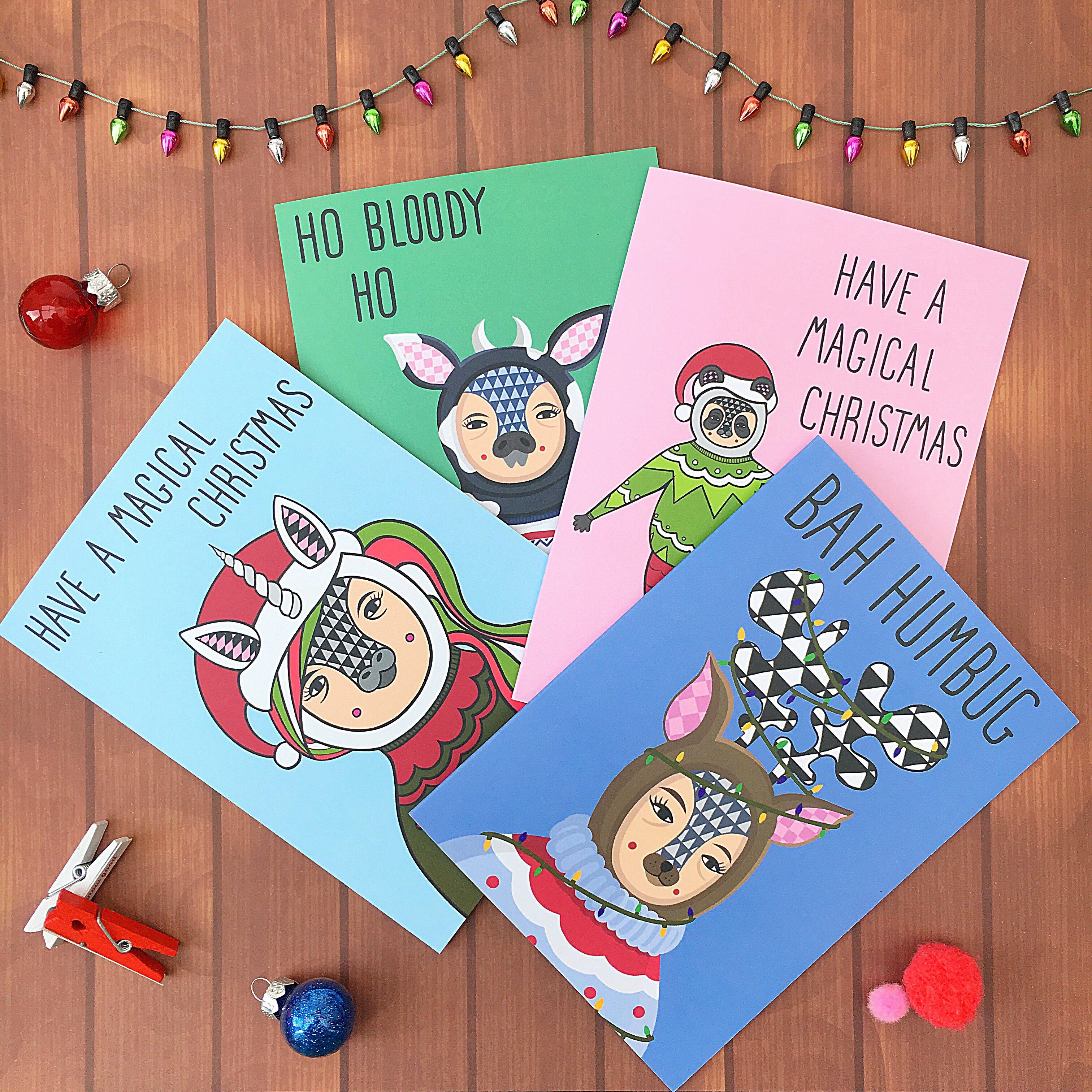 Ted and Kip Christmas Cards - Christmas Print