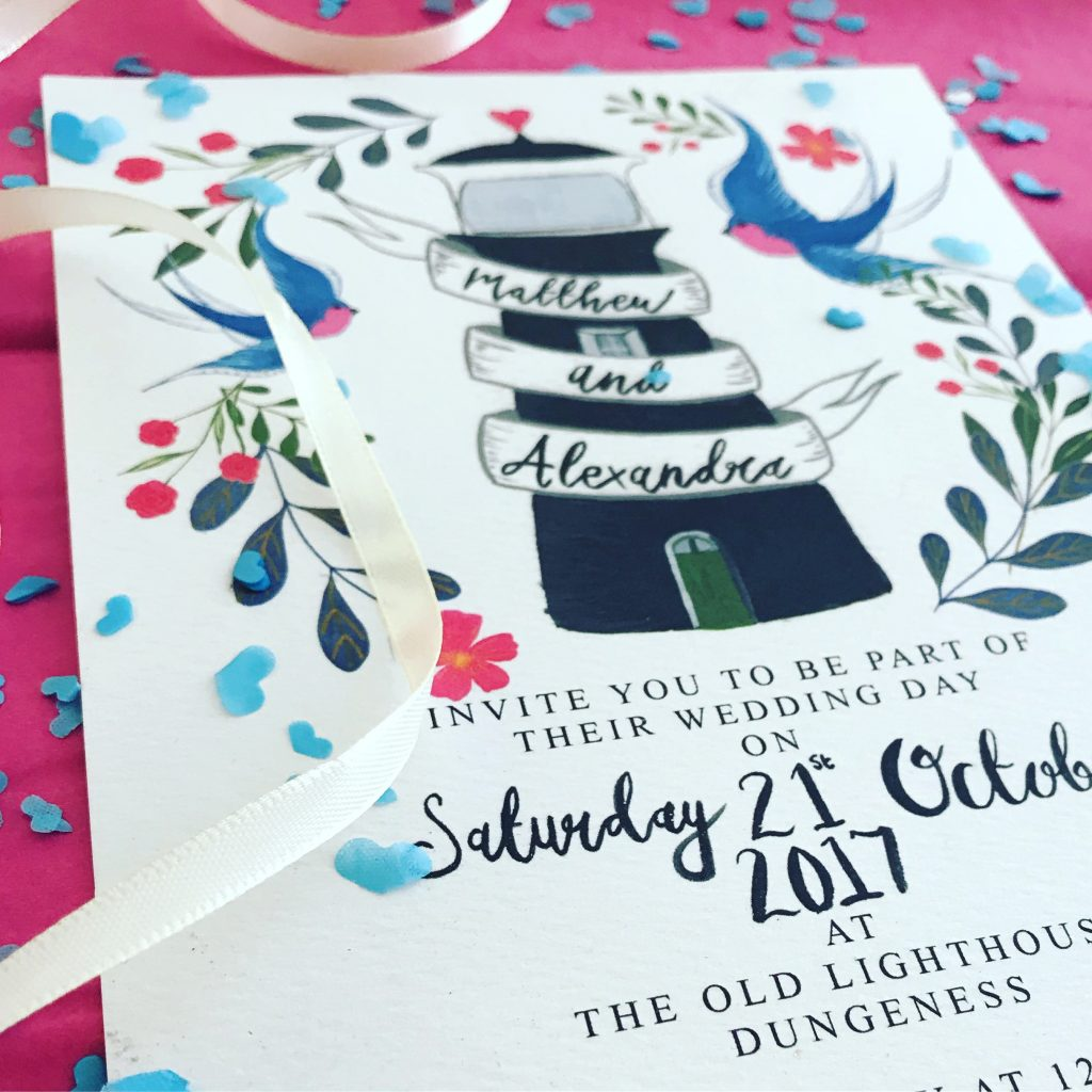 Little Paper Garden art print wedding invites watercolour