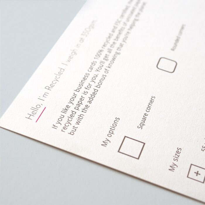 Recycled Paper. Eco-friendly printing