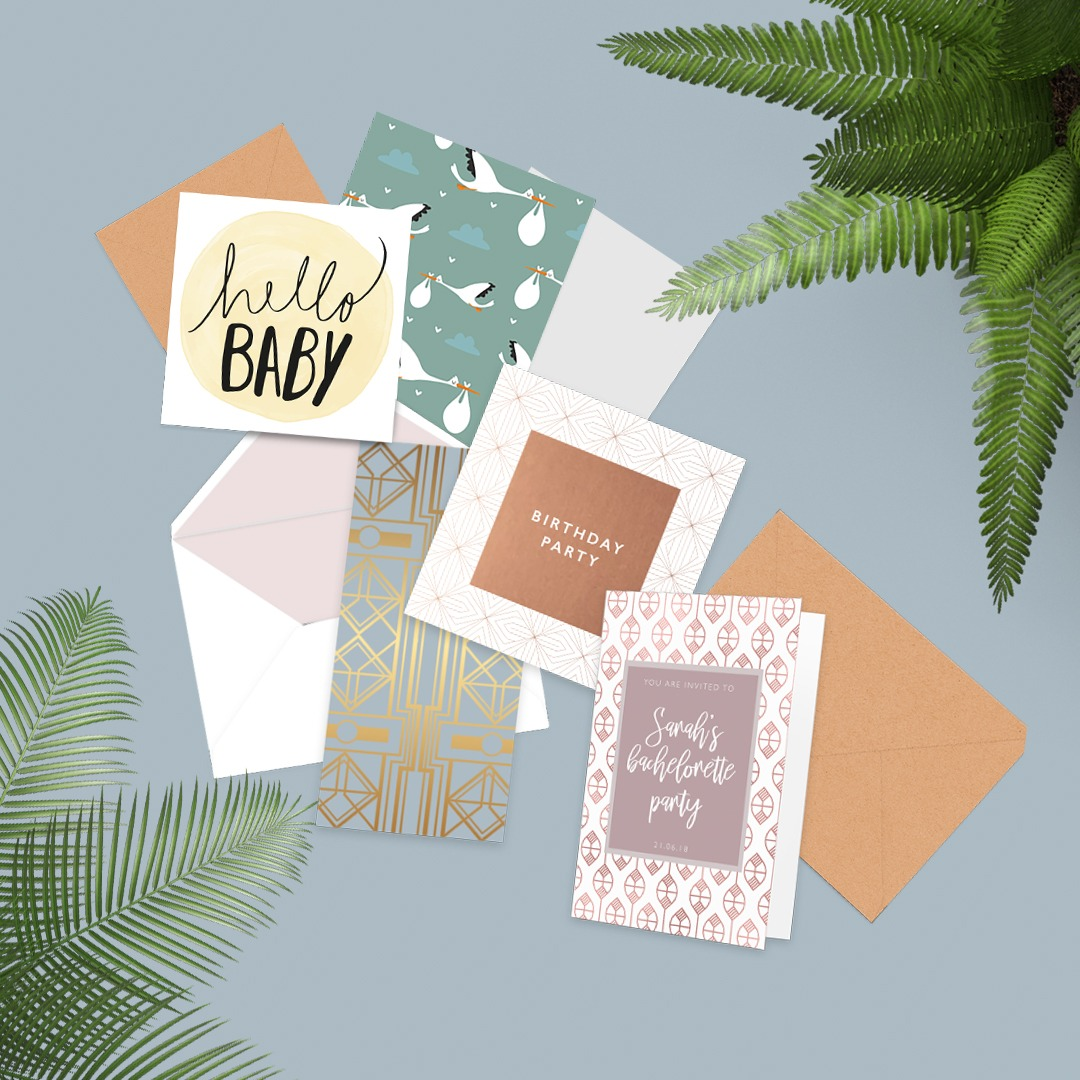 Create a greeting card collection