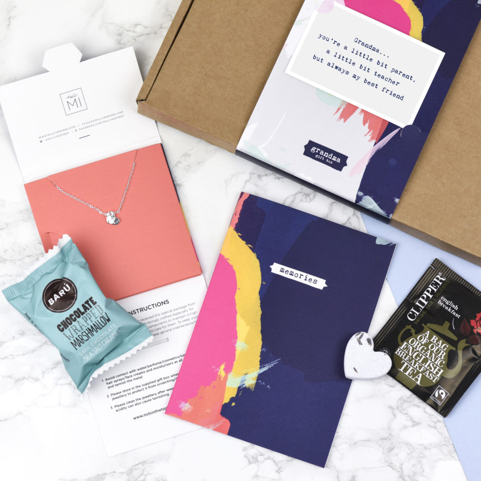 Bespoke printed gift boxes by Milly Inspired