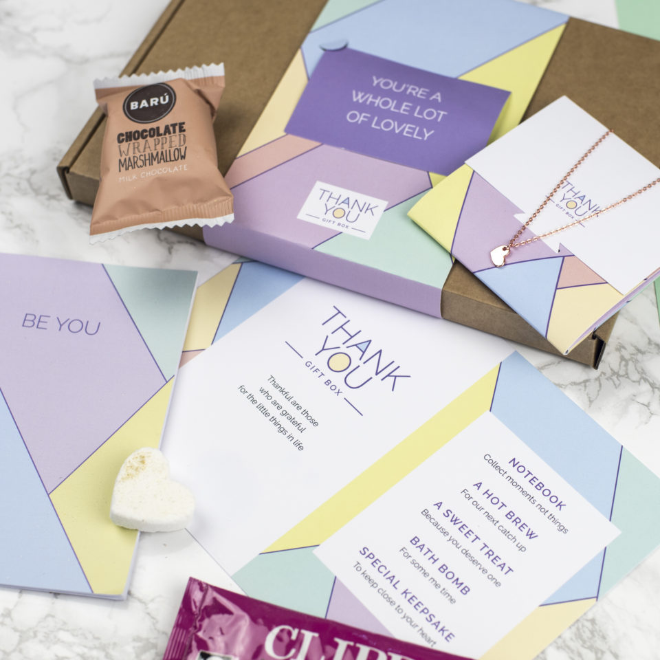 Bespoke printed gift boxes and Belly Bands by Milly Inspired