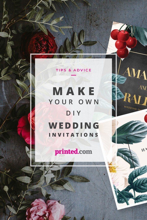 how to make your own DIY wedding invitations