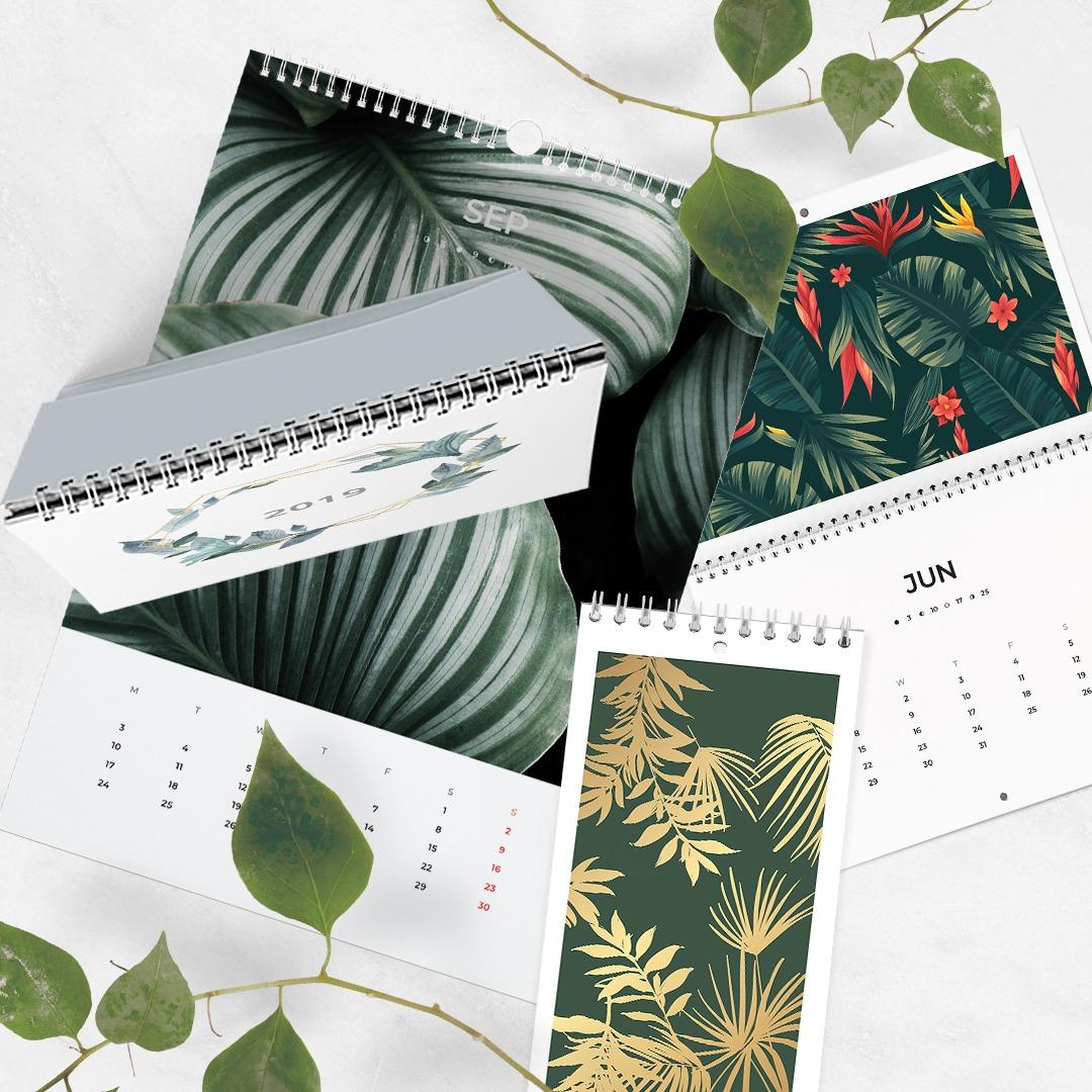 Calendar Printing at printed.com - create custom, printable calendars at printed.com from just £15