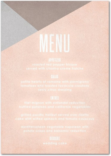 Menu printing on Pearl Oyster Paper
