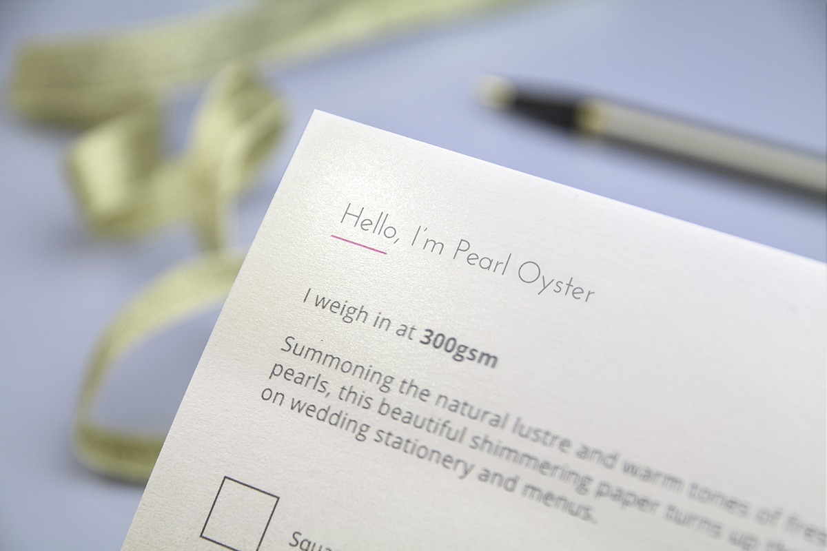 Shimmer paper stocks Pearl Oyster