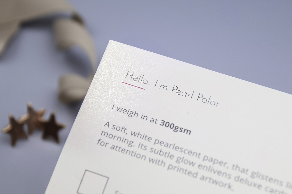 Pearl polar shimmer paper
