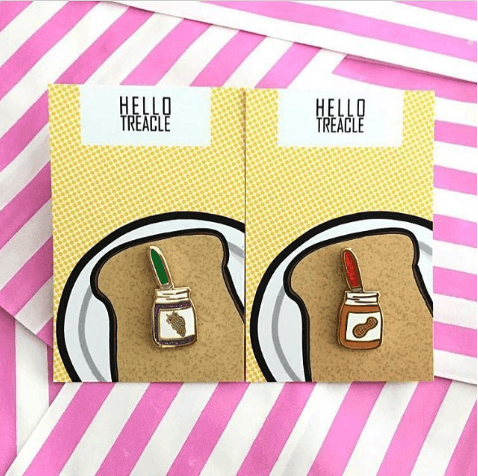 The GBBO Edition: Peanut Butter and Jam Pins by Hello Treacle