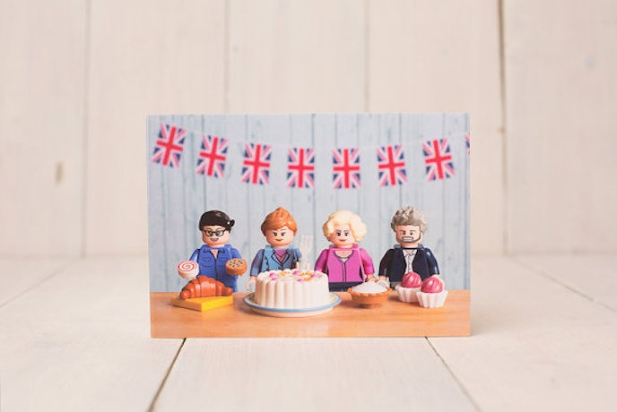 The GBBO Edition: Greeting Cards by Minifig Moments
