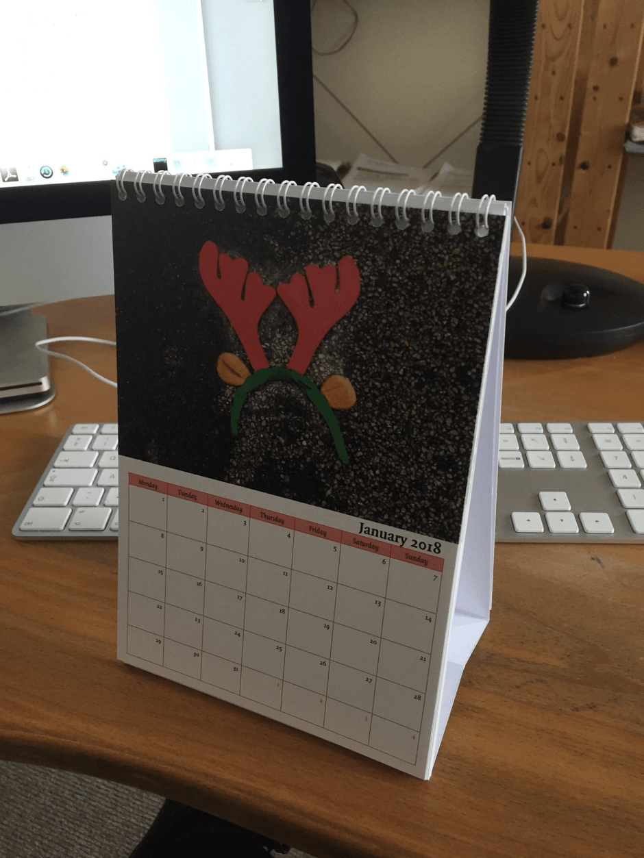 desktop calendar printing by Solispress