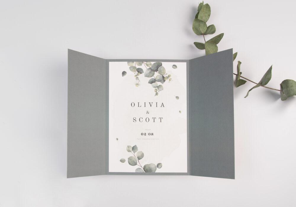 Gate Fold Wedding Invitation