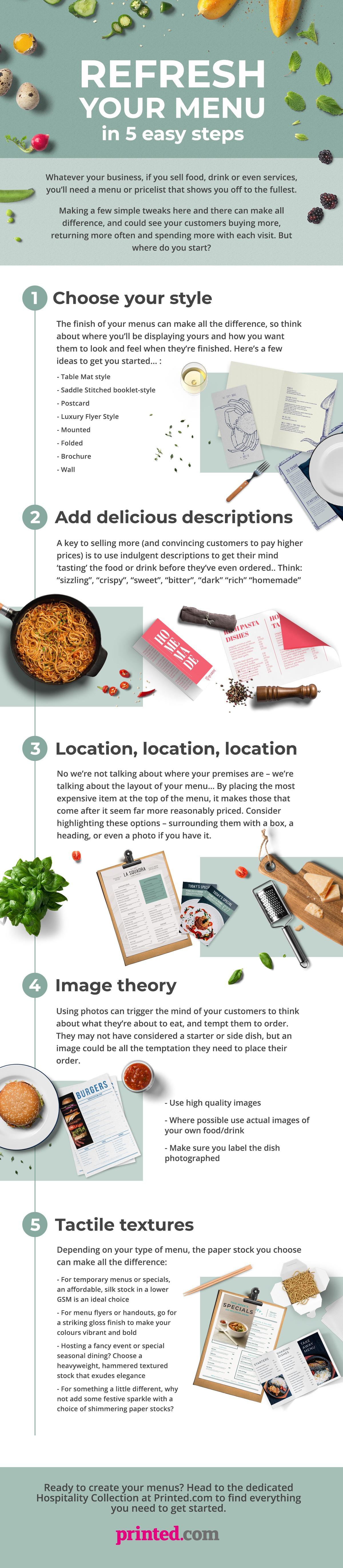 print menus in 5 steps - 5 tips for menu printing - menu trends and advice