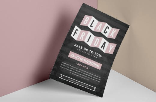 Black Friday Sales flyers in black