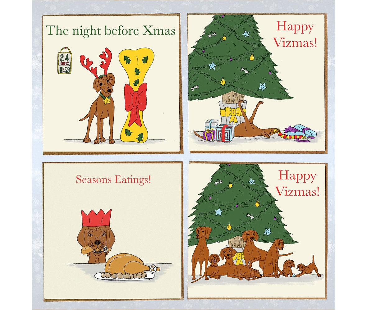 Christmas cards by Trotting Dog