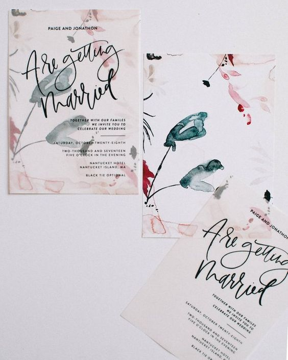 Vellum printed wedding invites