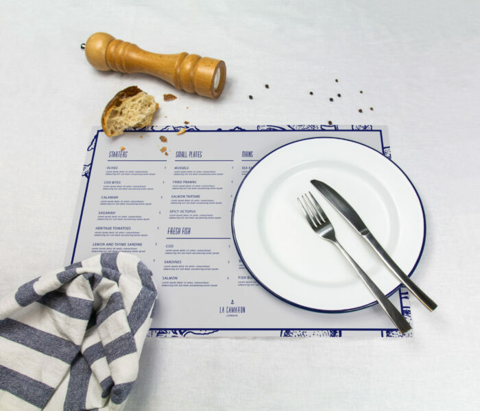 eco-friendly menu printing
