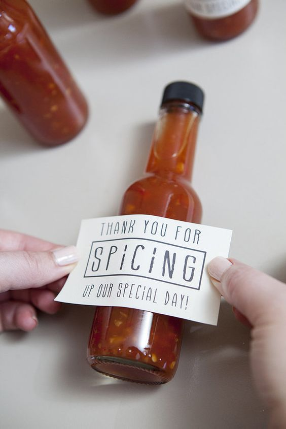 SPicy wedding favours