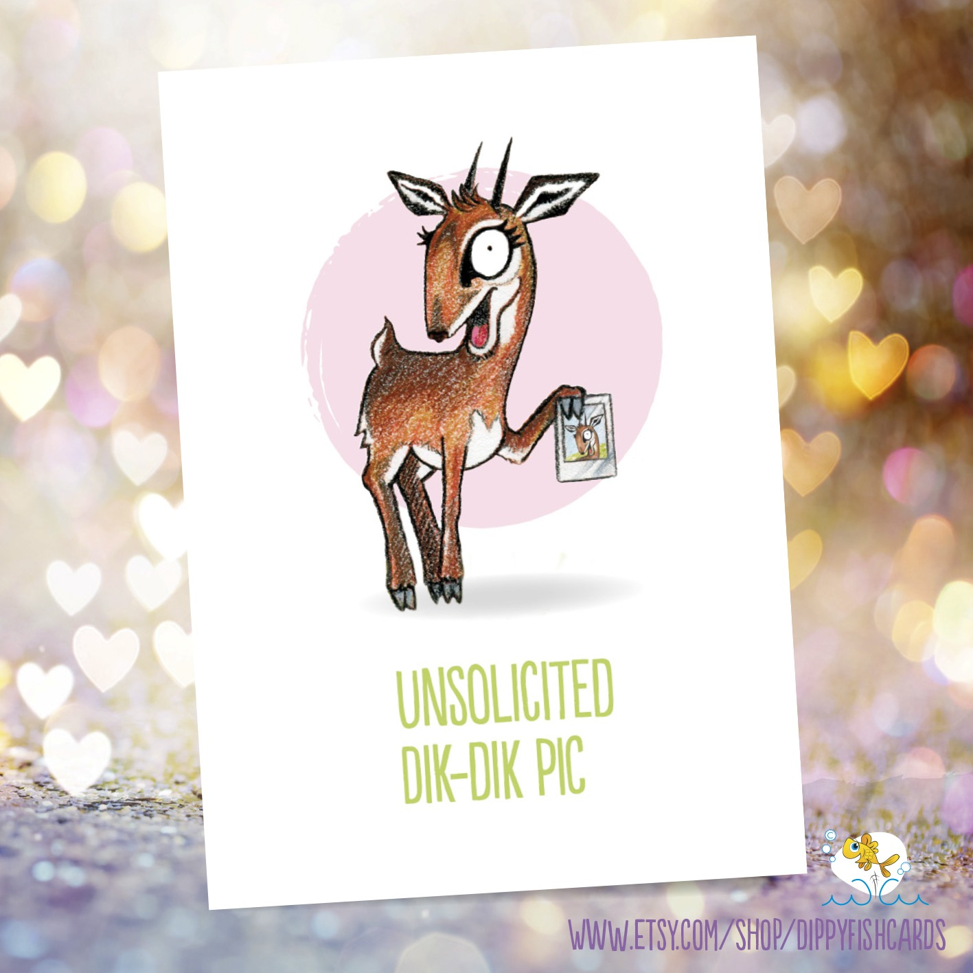 Dippyfish Cards Valentine's Day card Dik Dik pic