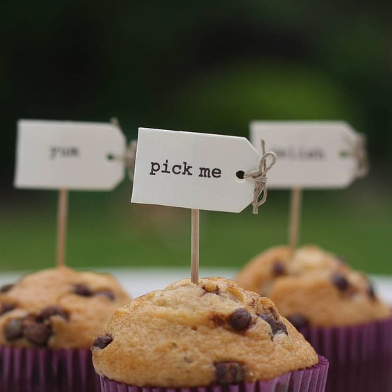 DIY wedding favours cupcakes