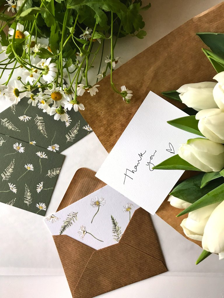 Spring shades for thankyou cards