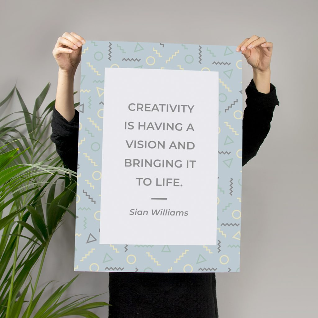 creativity is having a vision and bringing it to life