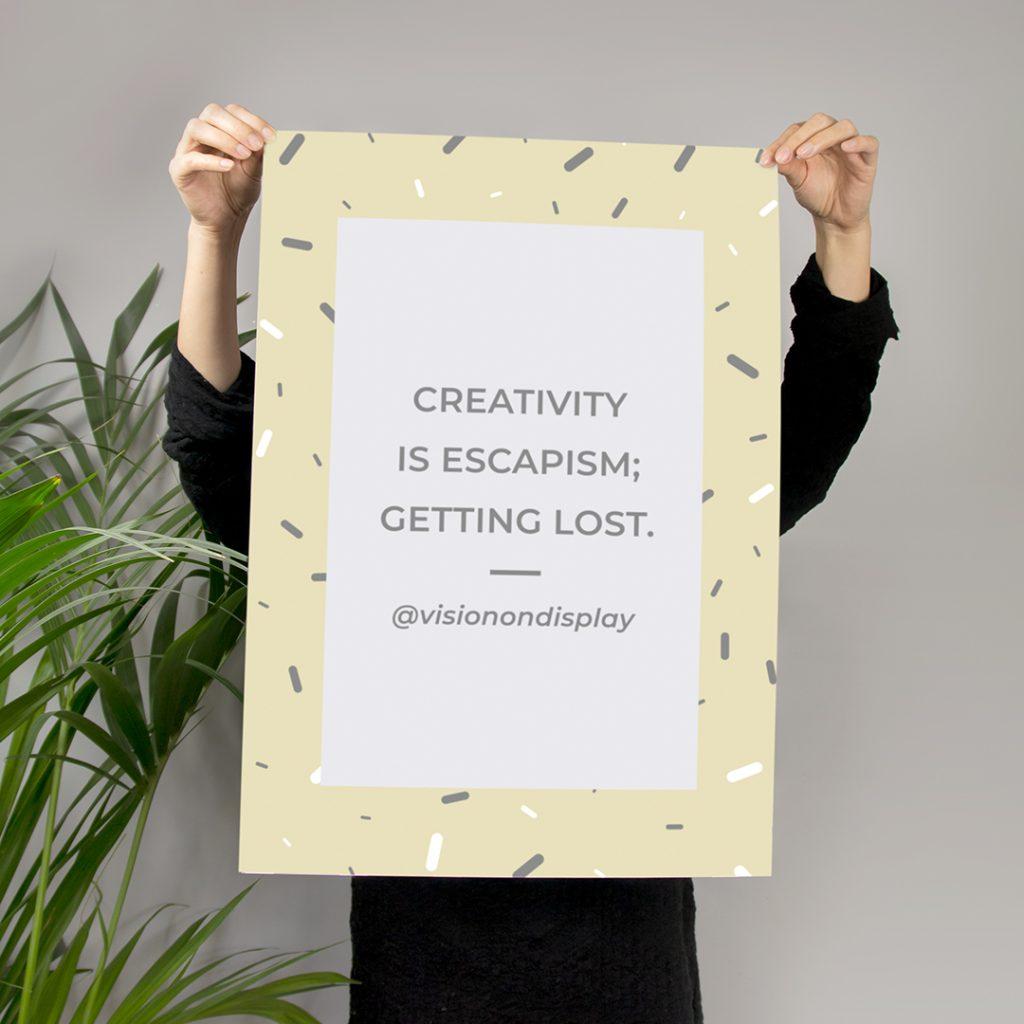 creativity is escapism