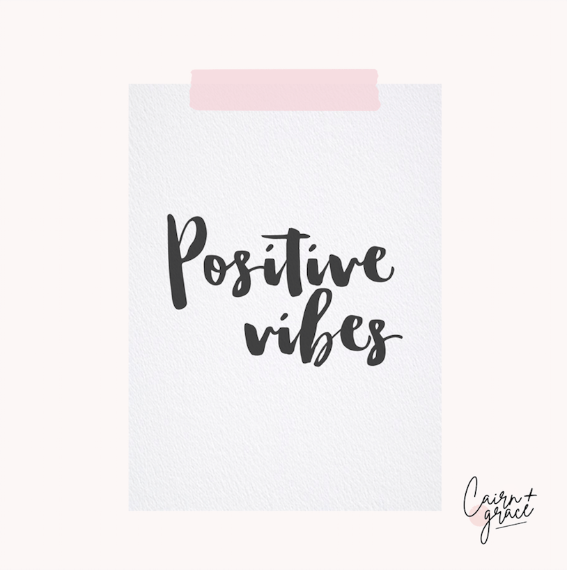 Cairn and Grace - positive vibes - art print printed by printed.com