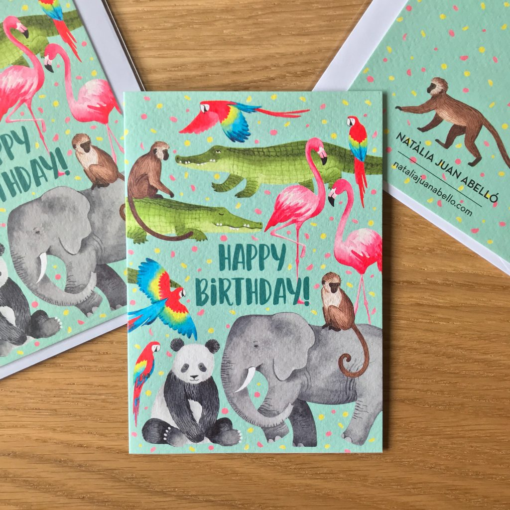 Animal Party, animal design greeting card