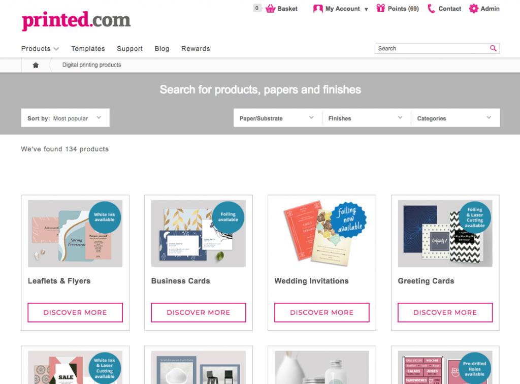 new product page at printed.com - - new at printed.com