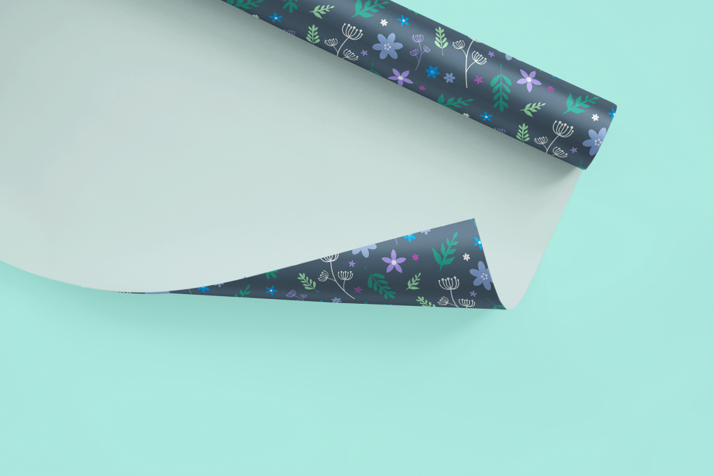 colourful wrapping paper