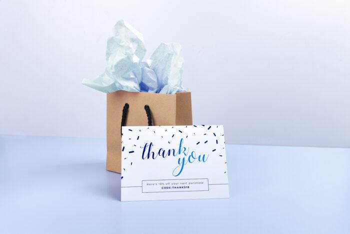 Gratitude marketing flyer