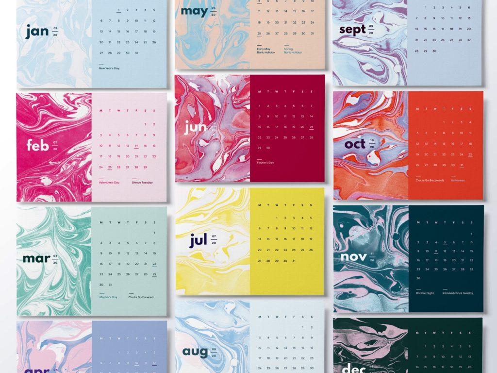 postcard calendar
