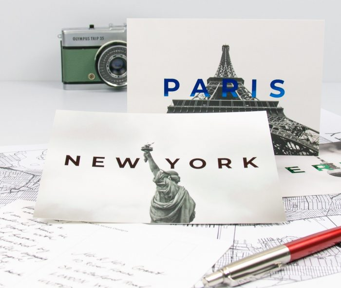 foil postcards