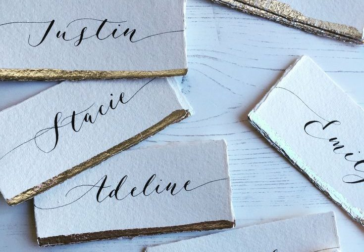 Calligraphy wedding trends