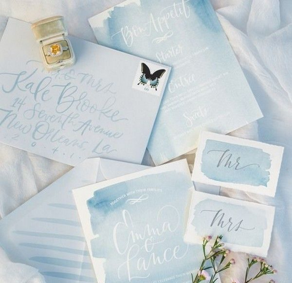 watercolour wedding trends 2020
